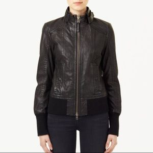 Mackage Elie Black Leather Jacket